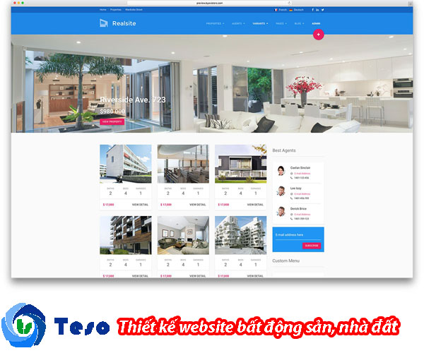 6 mẫu thiết kế website bất động sản, nhà đất chuẩn SEO 1