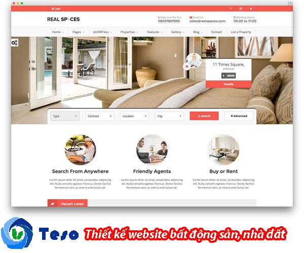 6 mẫu thiết kế website bất động sản, nhà đất chuẩn SEO 2