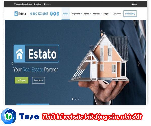 6 mẫu thiết kế website bất động sản, nhà đất chuẩn SEO 3