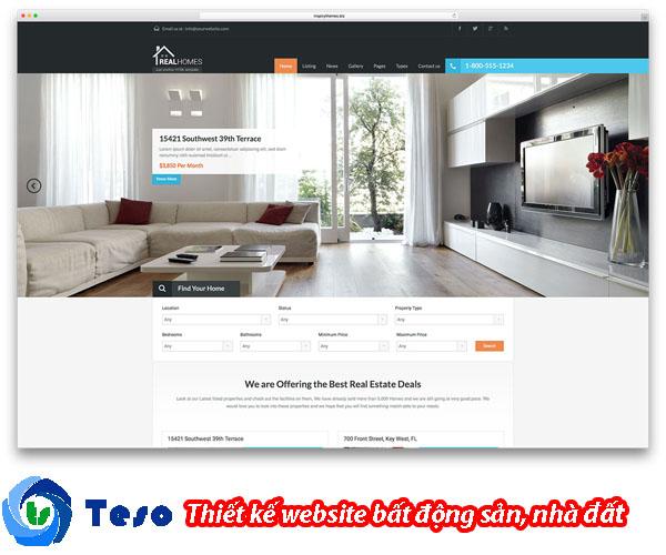6 mẫu thiết kế website bất động sản, nhà đất chuẩn SEO