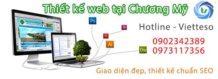 dịch vụ thiết kế web tại chương mỹ của Vietteso