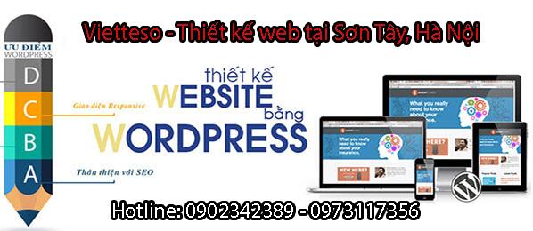 thiết kế web tại thị xã sơn tây hà nội